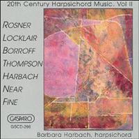 20th Century Harpsichord Music, Volume 2