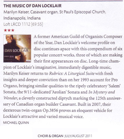 Choir &organ Review July/August 2011